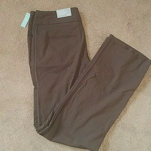 Apt 9 The Ava Pant Brown Size 8 Stretch NWT